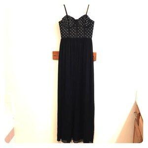 Alice + Olivia Sz 4 NWT black bustier maxi dress